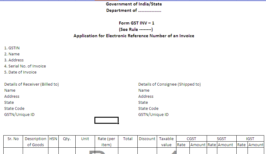 invoice format with service tax